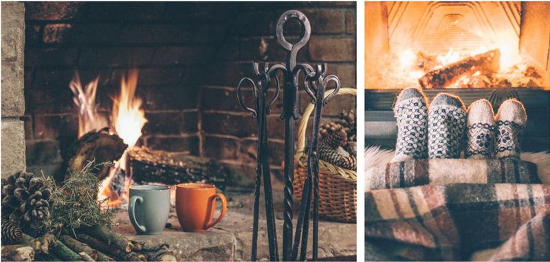 la magia de la chimenea en el hogar de estilo hygge
