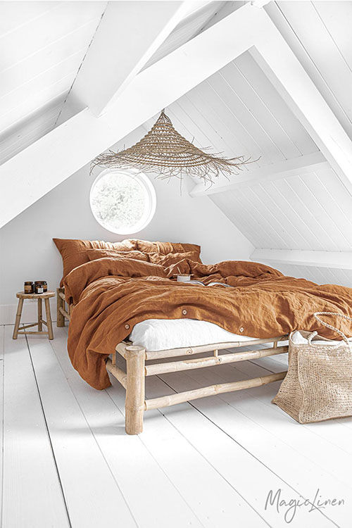 accesorios y textiles de lino para la decoración de casa