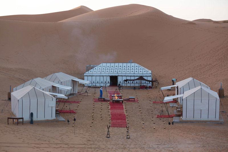 Carpas de lujo en el desierto del Sahara