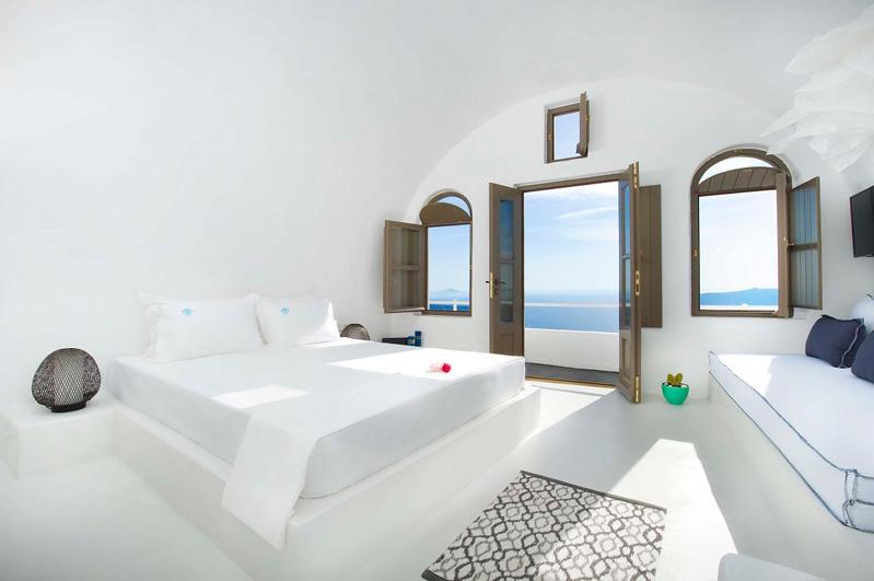 habitación de estilo griego