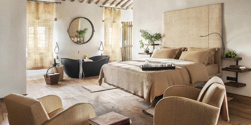 Dormitorio en un hotel rural