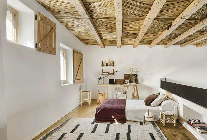 dormitorio de estilo rústico moderno