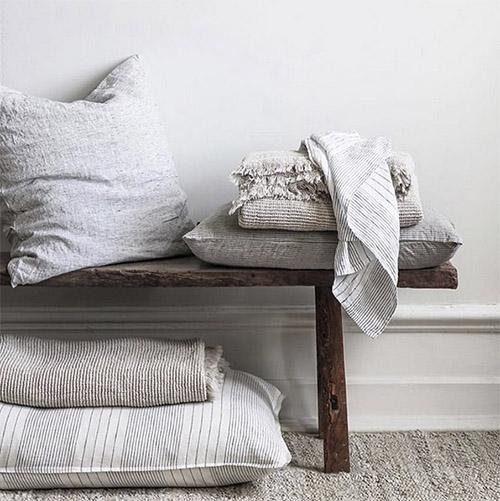 Cálidos textiles en la decoración de habitaciones de estilo nórdico