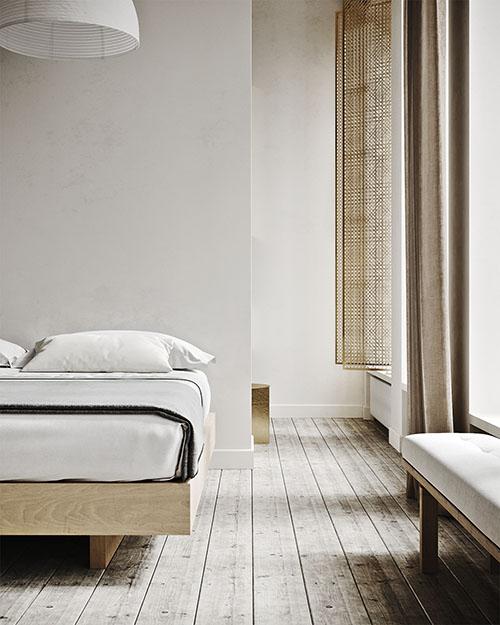 habitación de estilo minimalista