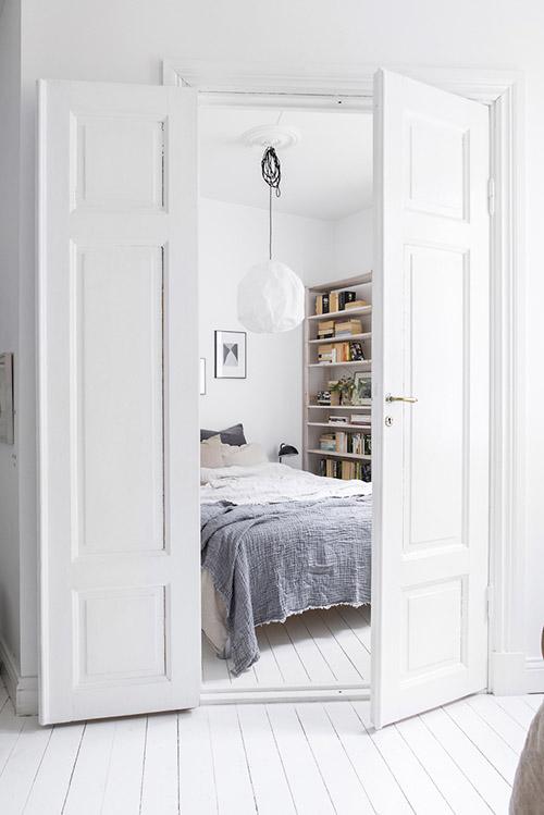 El color blanco para pintar dormitorios pequeños