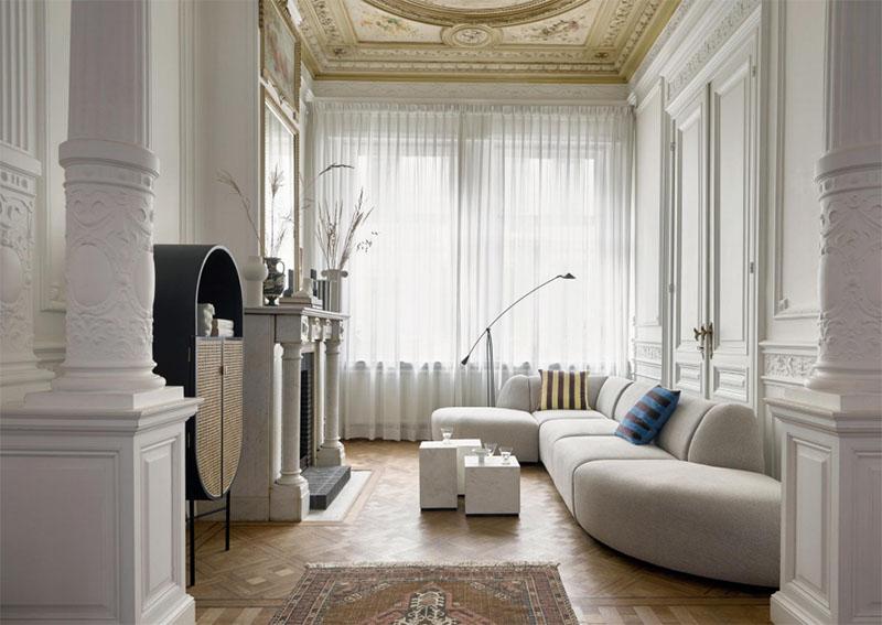 decoración minimalista de la sala de estar