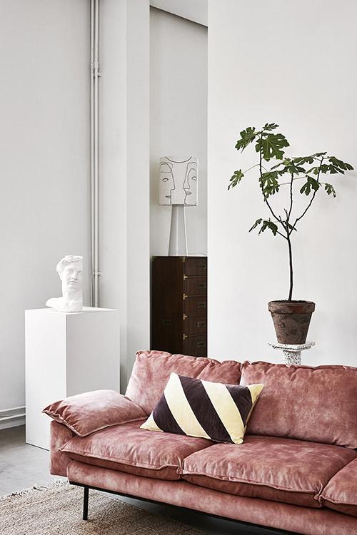 sofá de terciopelo HK Living