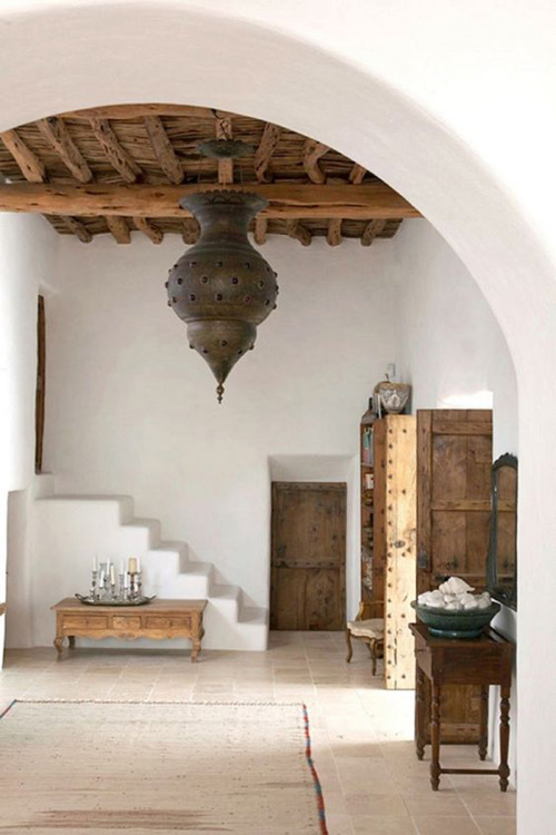 casa con decoración de estilo arabe