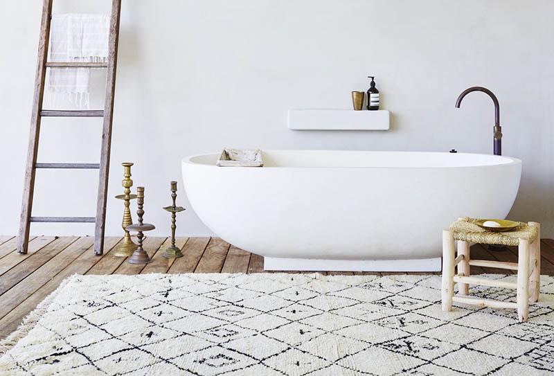 Decoración de baños con alfombras