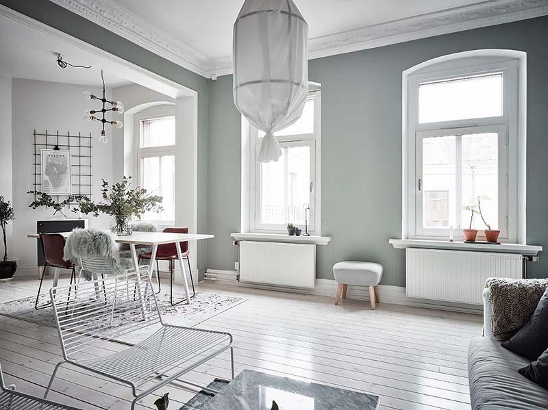 tonos de color verde para el salón de casa