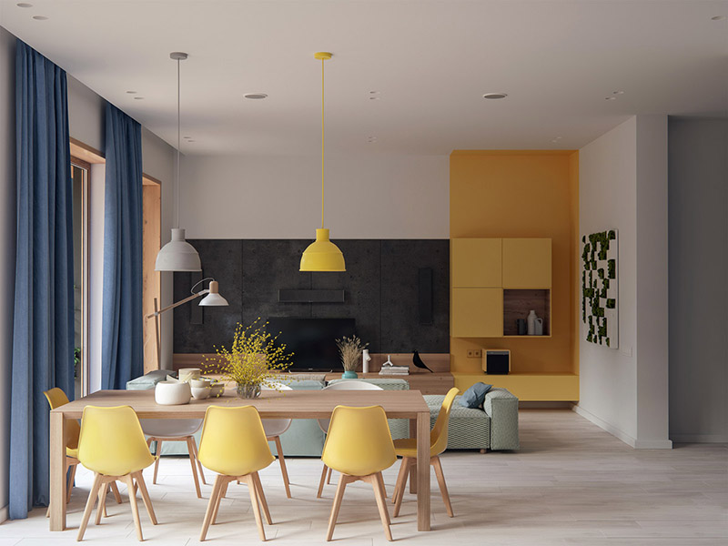ideas de colores para decorar un salón comedor
