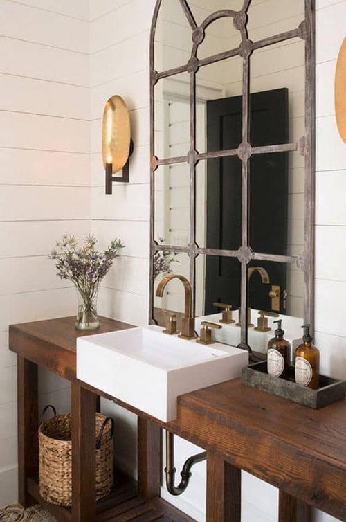 Ideas en la decoración de lavabos de estilo rústico