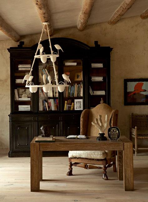 decoración de salones con un estilo rústico