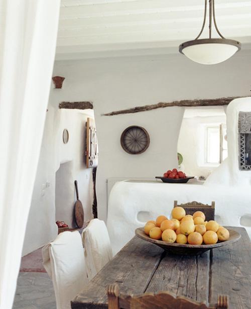 detalles decorativos en una casa griega