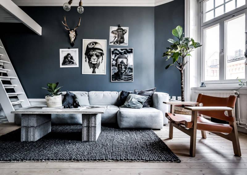 Colores para salones en tonos azules