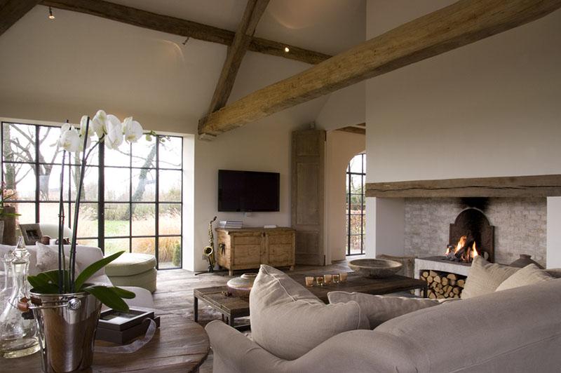 Cómo decorar el salón de una casa rústica