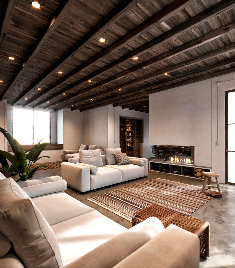 Casas r sticas modernas que te van a robar el coraz n for Living de madera modernos