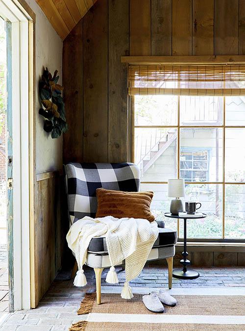 como decorar una cabaña de madera