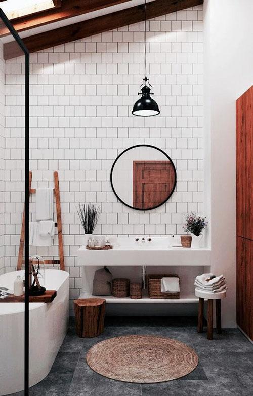 alfombras de fibras naturales para decorar el cuarto de baño