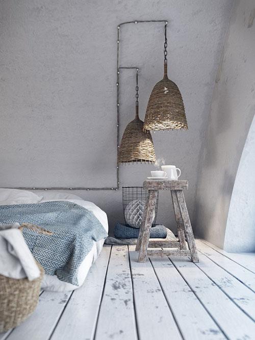 Iluminación en un dormitorio tipo loft