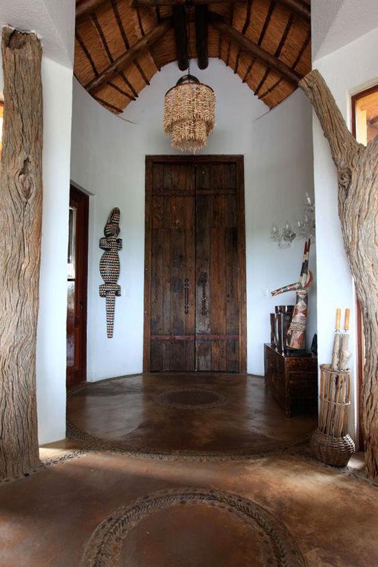 Elementos naturales en el estilo africano
