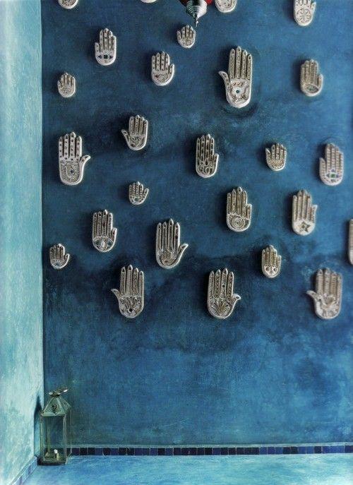 Interior azul en Marruecos