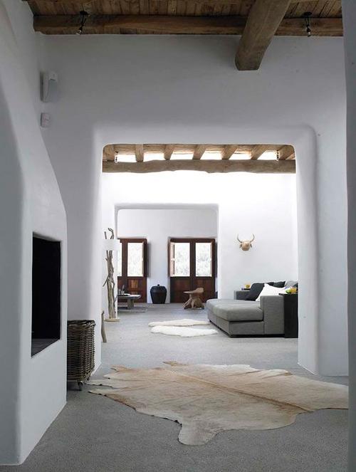 Interior de una casa mediterranea