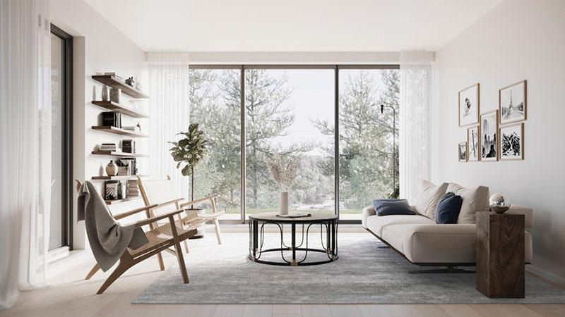 Muebles de diseño en la decoración de espacios con colores neutros