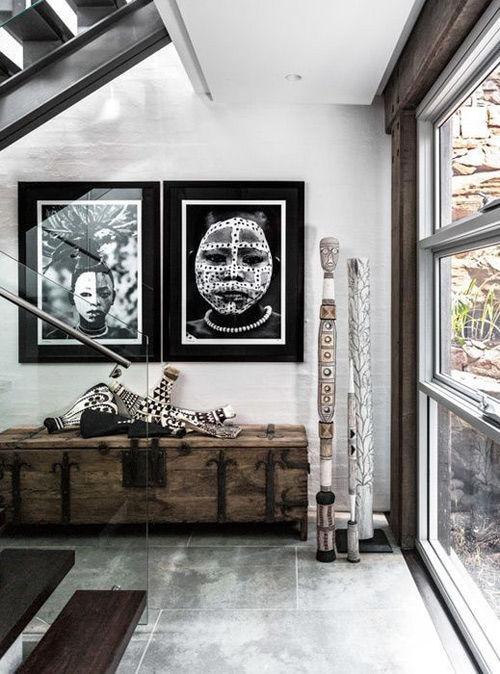 Fotografías en blanco y negro de las tribus africanas