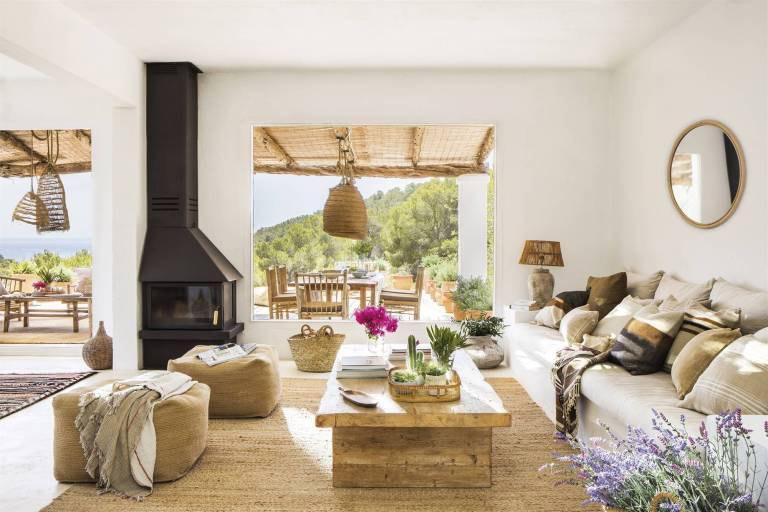 decoración natural en una casa de campo