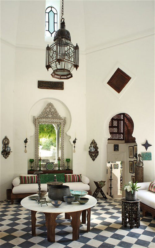 Interior con estilo arabe