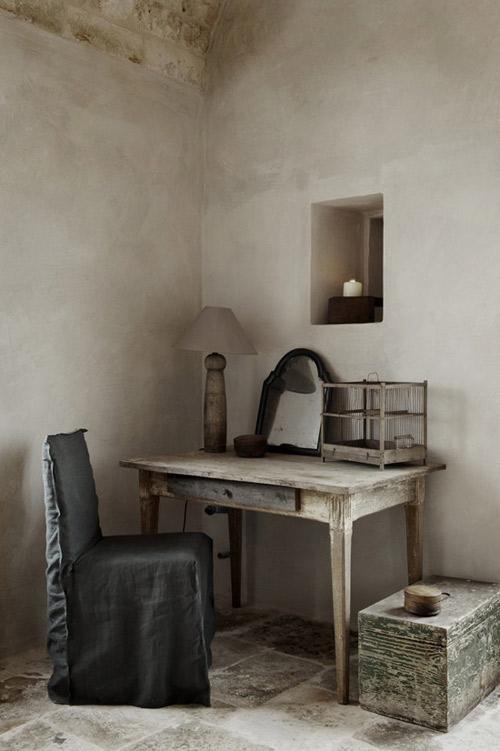 Muebles de madera para decorar un interior de estilo rústico