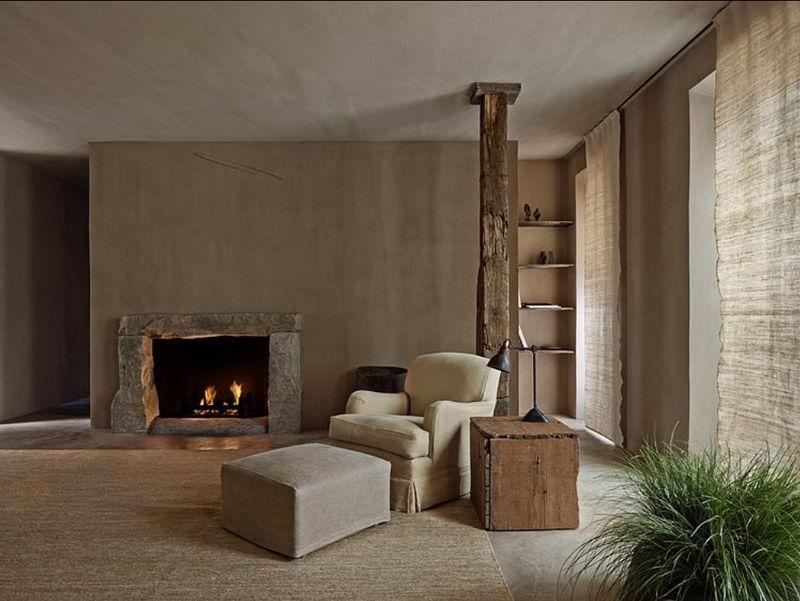 Interior decorado con los principios de la estética wabi sabi