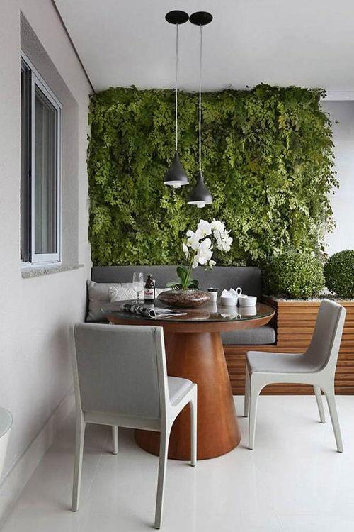 Jardines verticales para la decoración de terrazas pequeñas