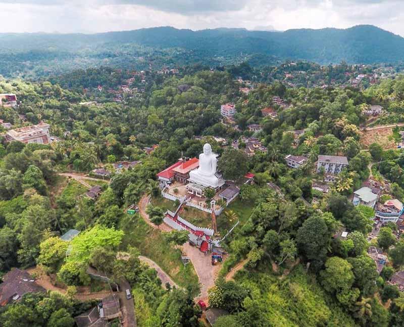 La ciuadad de Kandy en Sri Lanka