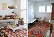 alfombra kilim para decorar interiores