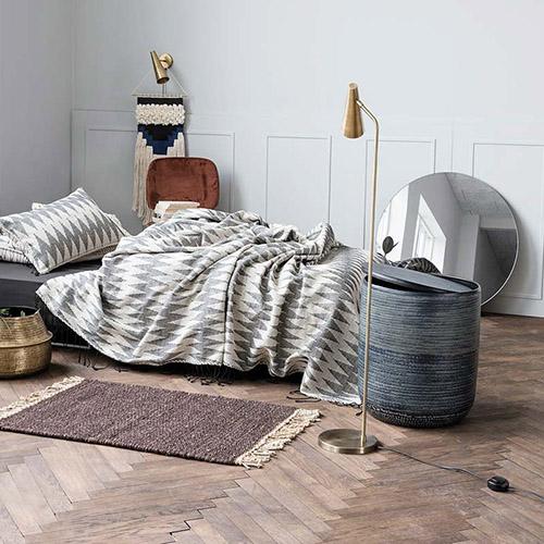 lámpara de pie de latón de diseño nórdico