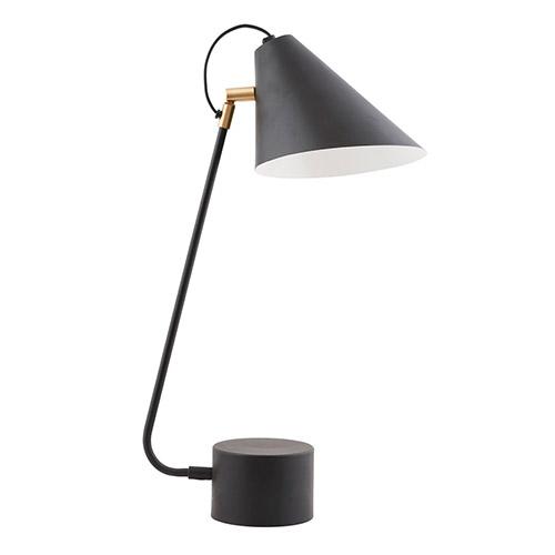 lámpara de mesa de estilo industrial color negro