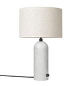 lámpara de mesa con pantalla y pie de marmól