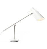 lámpara de mesa de color blanco