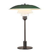 Lámpara de mesa de cristal de estilo vintage