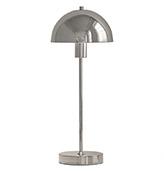 lámpara de mesa plateada