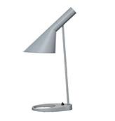 lámpara de mesa de color gris claro