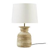 lámpara de mesa de madera de mango