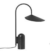 lámpara de sobremesa de color negro