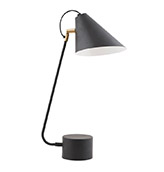 lámpara de mesa de color negro