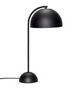 lámpara de mesa metálica de color negro
