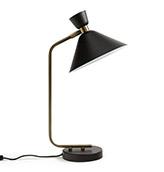 lámpara de mesa de latón color negro
