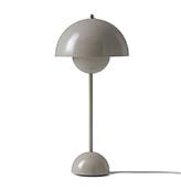 Lámpara de mesa gris beige