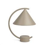 Lámpara de mesa pequeña beige